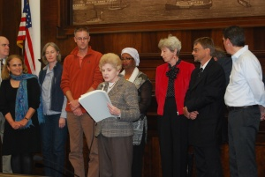 Reading of the Proclamation