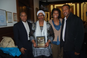 From left - Mumini, Char, Maimoona and Dwayne
