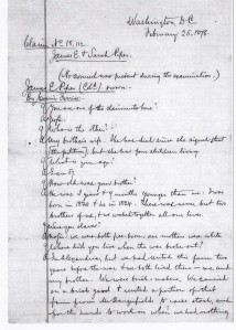 James E Piper's 1878's Southern Claim Deposition